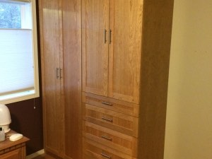 Built In Cherry Wood Wardrobe Cabinets