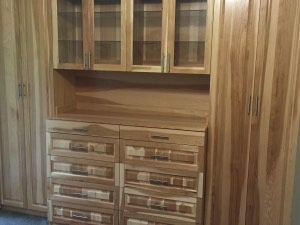 Real Hickory Wood Wardrobe Cabinets