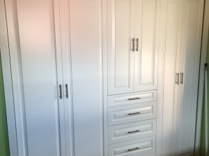 Painted Wood Built IN Closet