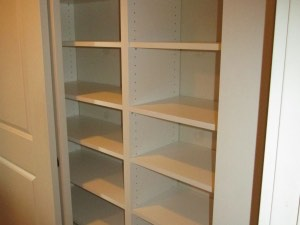 Adjustable Shelving in White