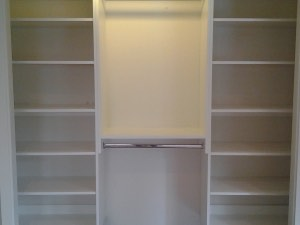 White Reach In Closet