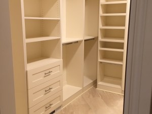 Painted Shaker Walk In Closet