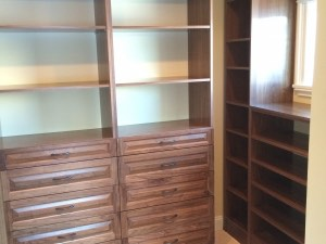 Real Walnut Raised Panel Walk In Closet